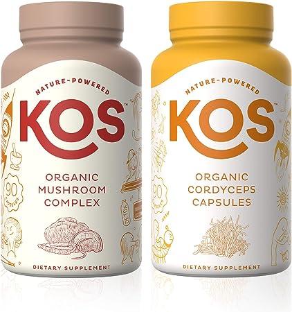 KOS Mushroom Complex + Cordyceps Capsules Bundle