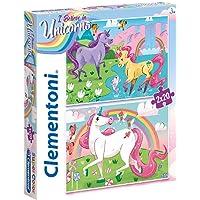 Clementoni - 24754 Supercolor Puzzle Unicorn 2 x 20 Parça (24754)