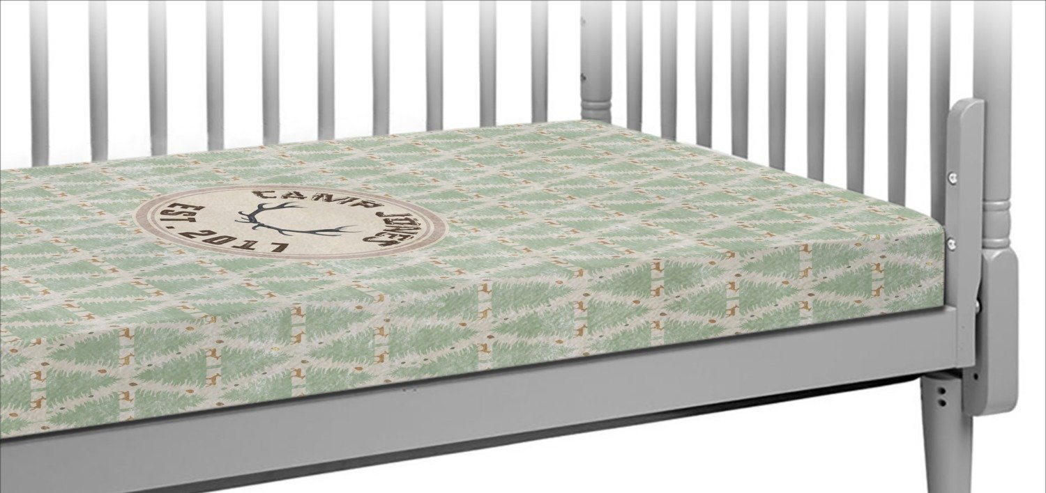 Deer Crib Fitted Sheet (Personalized)
