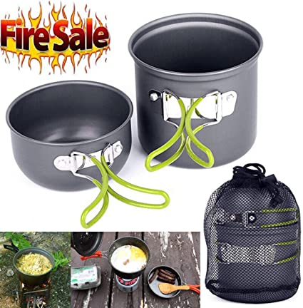 Cookware Outdoor Pan Camping Hiking Backpacking Cooking Picnic Bowl Pot JL