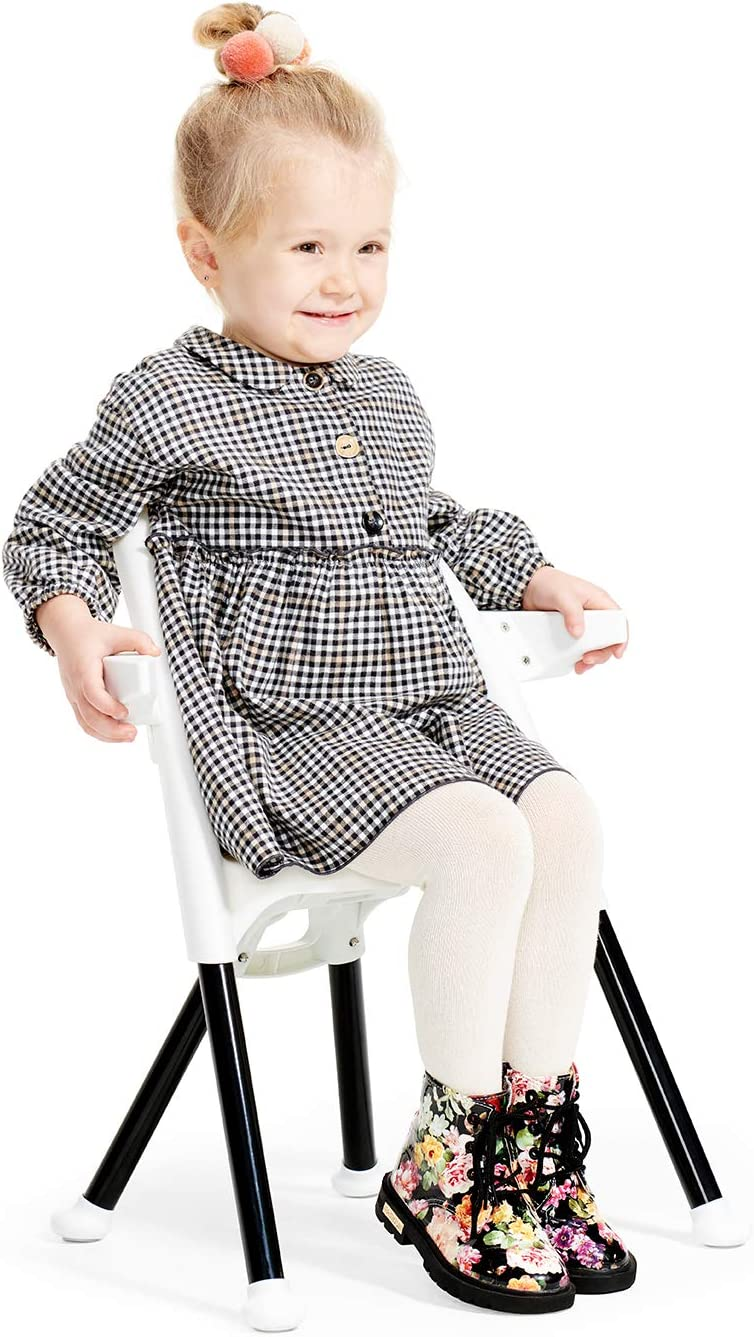 White for Toddler Detachable Tray Baby Chair Easy to Clean Comfortable Armrests Ergonomic with Ajustable Footrest Easy Folding Kinderkraft Highchair PINI from 6 Month to 5 Years