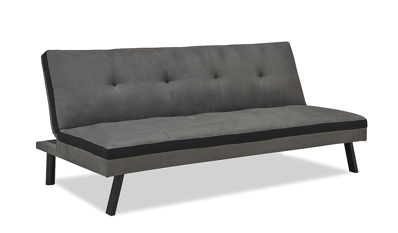 Sofá clic-clac convertible de 3 plazas, color gris y negro ...