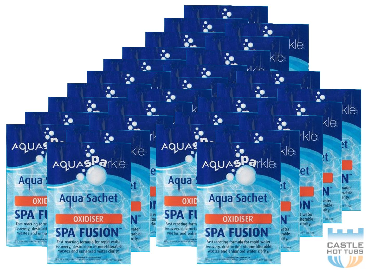 Happy Hot Tubs Bumper Pack of 30 x Aquasparkle Fusion Shock Tub Pool Spa Lite Oxidiser Clarifier Rapid CPC