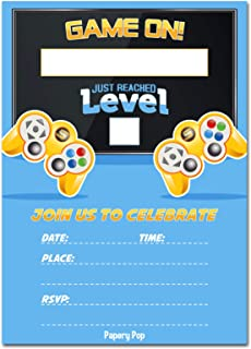 Video Game Party Invitations With Envelopes 15 Pack
