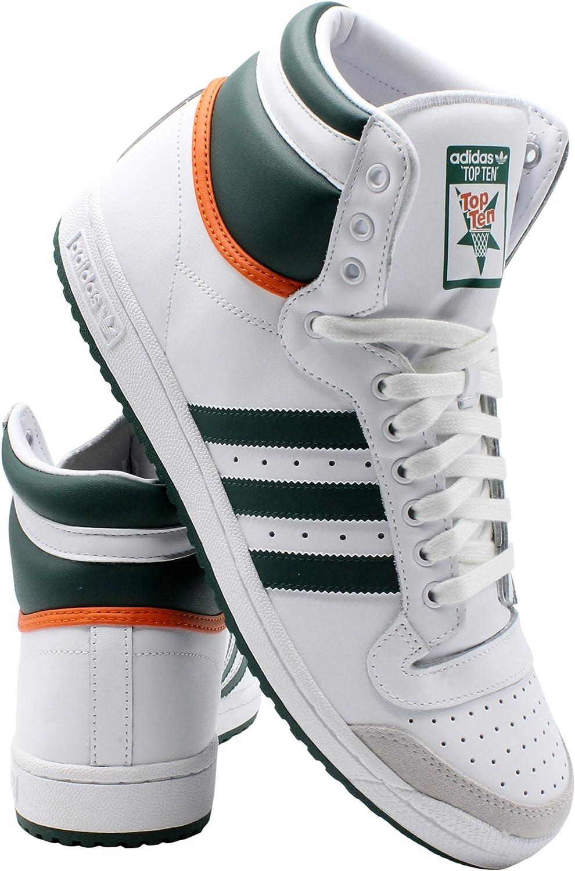 adidas Mens Top Ten Hi Sneaker - White Grey: Amazon.es: Zapatos y ...