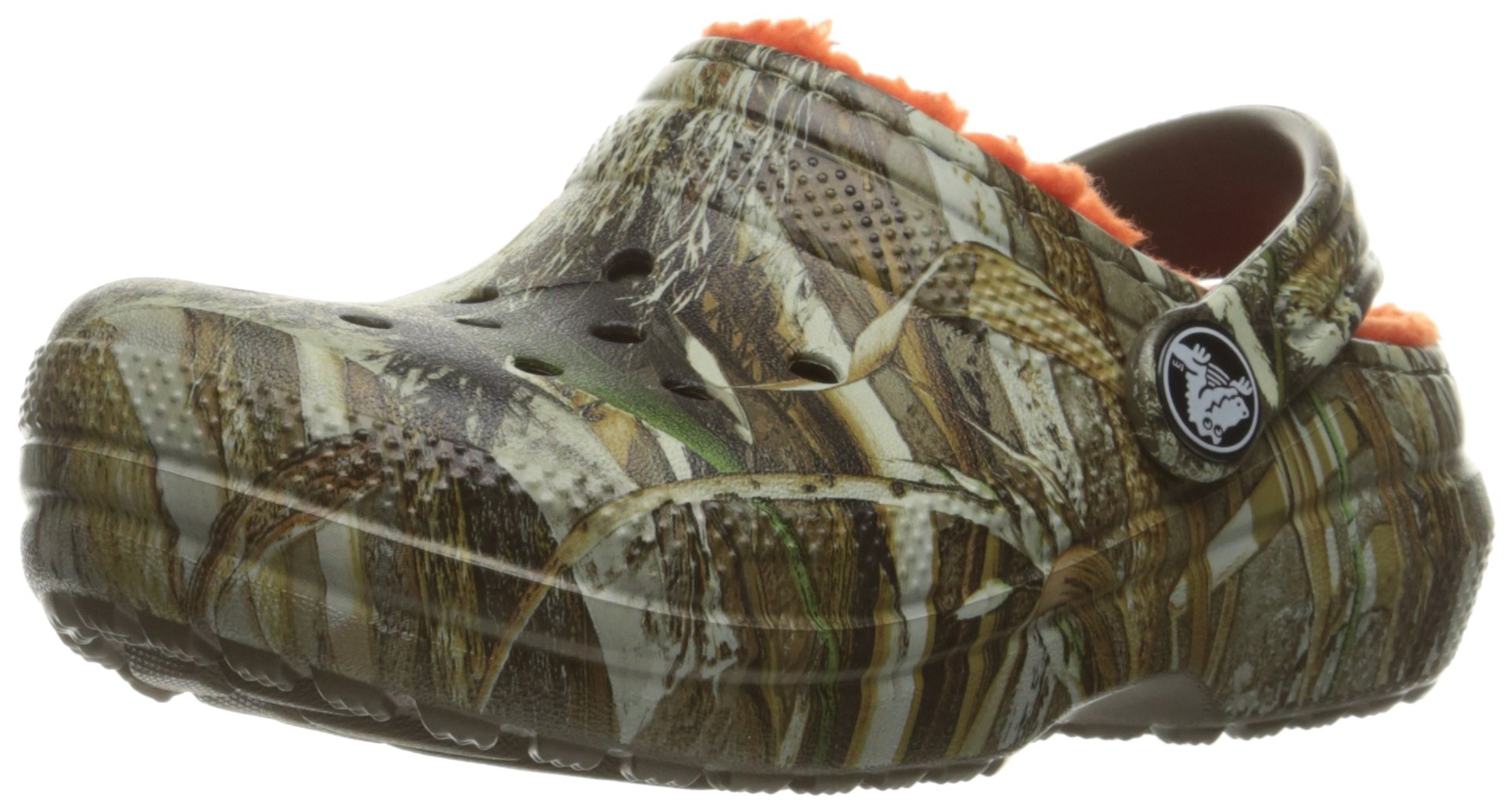 crocs Classic Realtree Max-5 Lined Clog (Toddler/Little Kid), Chocolate/Orange, 13 M US Little Kid