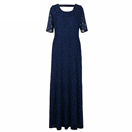 Women Lace Party Dress Plus Size 7XL 8XL 9XL Short Sleeve Floor Length  Summer Long Maxi Dress Navy Blue 8XL at Amazon Women s Clothing store  b9b414774f7a