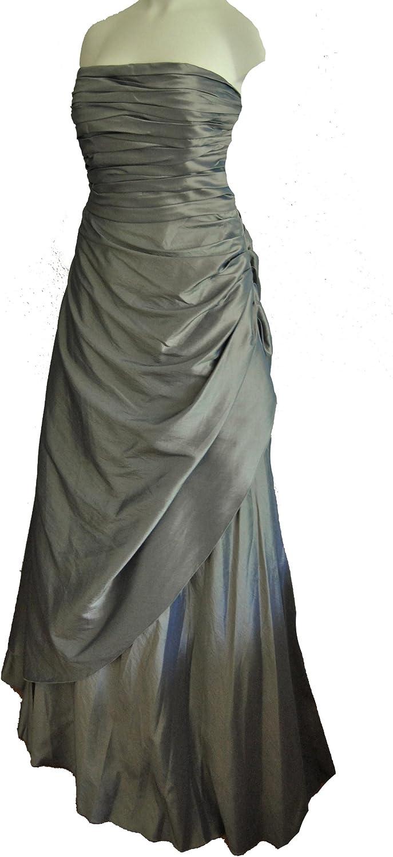 Abendkleid, Ballkleid lang wickeloptik grüngrau Gr. 11 (M11