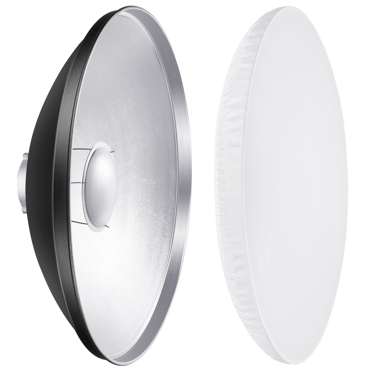 Neewer 16 inches/41 Centimeters Aluminum Standard Reflector Beauty Dish with White Diffuser Sock for Bowens Mount Studio Strobe Flash Light Like Neewer Vision 4 VC-400HS VC-300HH VC-300HHLR VE-300 10089551