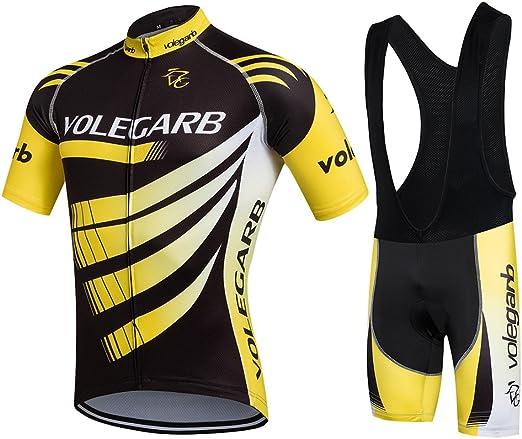 Fastar Ropa Verano Conjunta de Ciclismo de Hombre - Ciclismo Maillot Jersey y Pantalones Cortos: Amazon.es: Deportes y aire libre