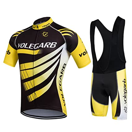 Amazon.com : Luckycyc Man Cycling Jersey with Bib Shorts Set ...
