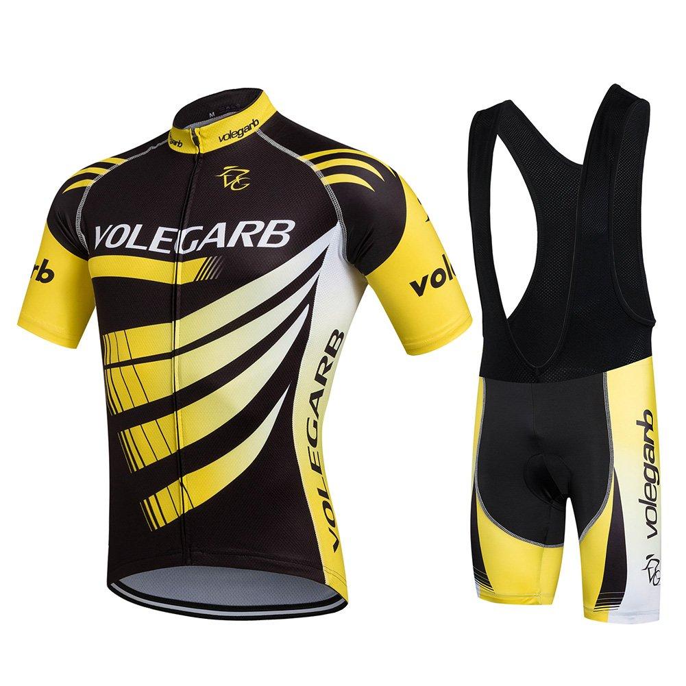 Fastar Ropa Verano Conjunta de Ciclismo de Hombre - Ciclismo Maillot Jersey y Pantalones cortos product
