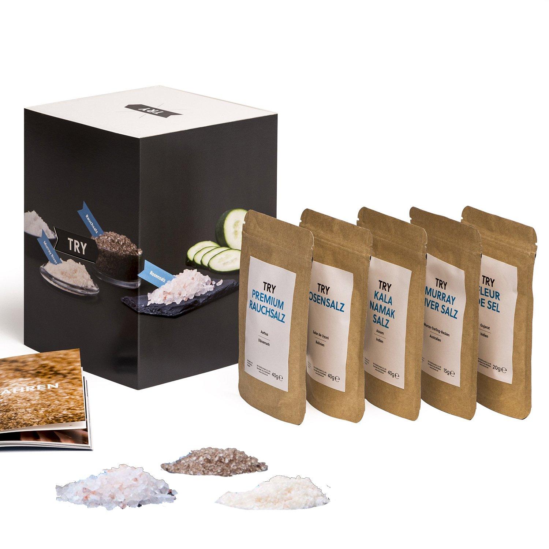 Salz Set Geschenkset I Fleur de Sel, Murray River, Rosensalz ...