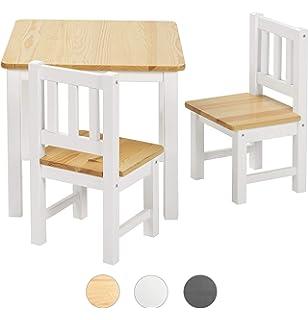 1a4f9b4feda2fe BOMI® Kindersitzgruppe Amy aus Kiefer Massiv Holz für Kleinkinder