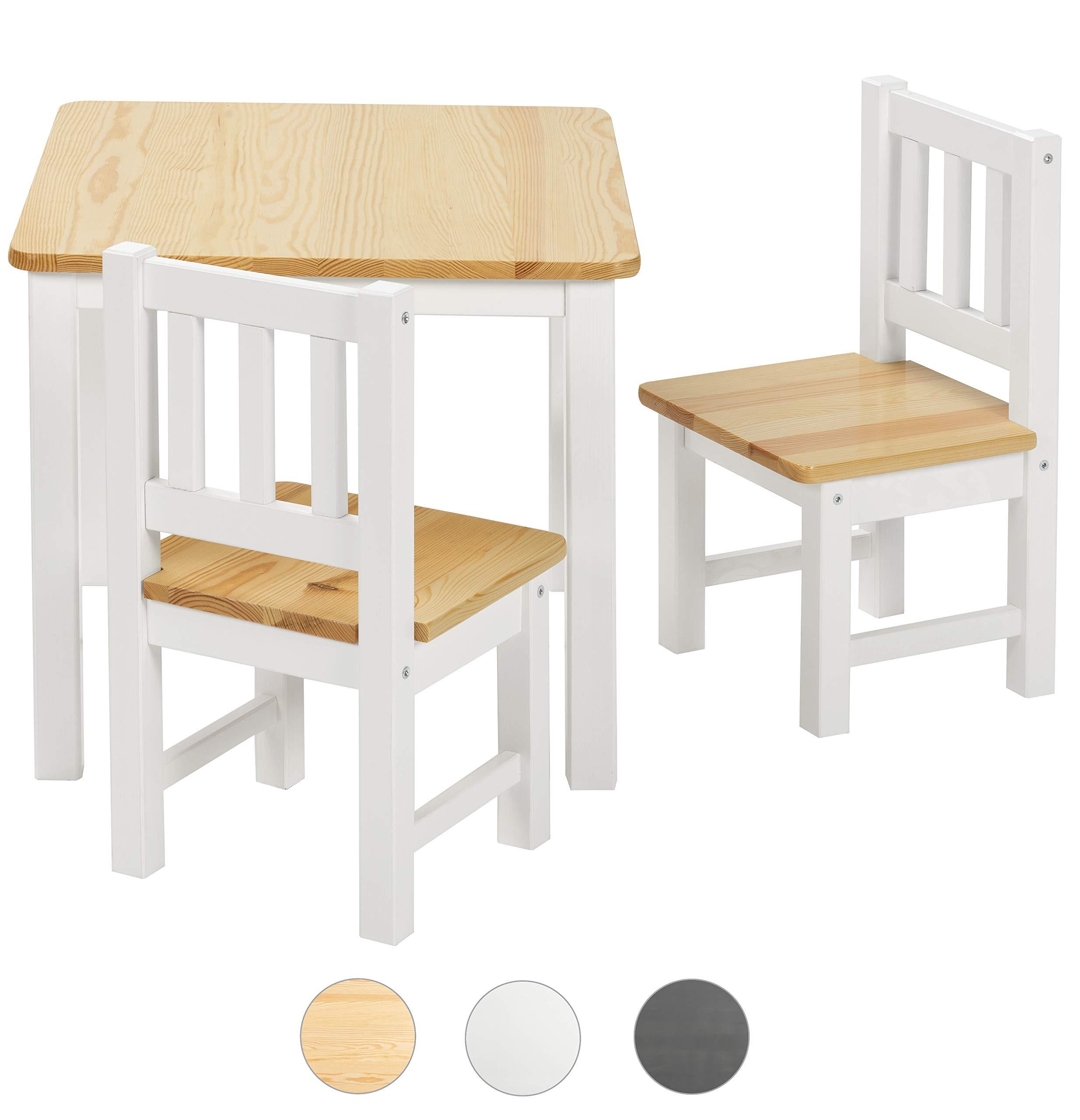 Fantastisch BOMI® Kindersitzgruppe Amy Aus Kiefer Massiv Holz Für Kleinkinder, Mädchen  Und Jungen Natur Weiß