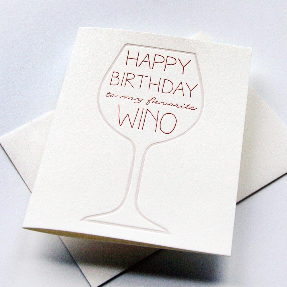Amazon Birthday Card Wino Bday Handmade