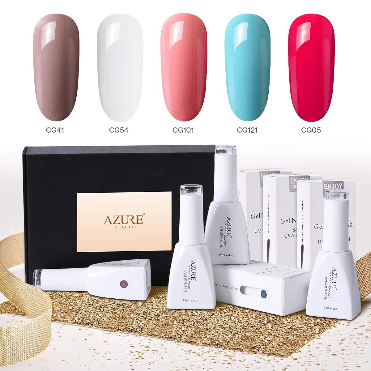 Gel Nail Polish Set with Gift Box(12ml) Bright Colors Soak Off UV LED Gel Polish Required Base and Top Coat