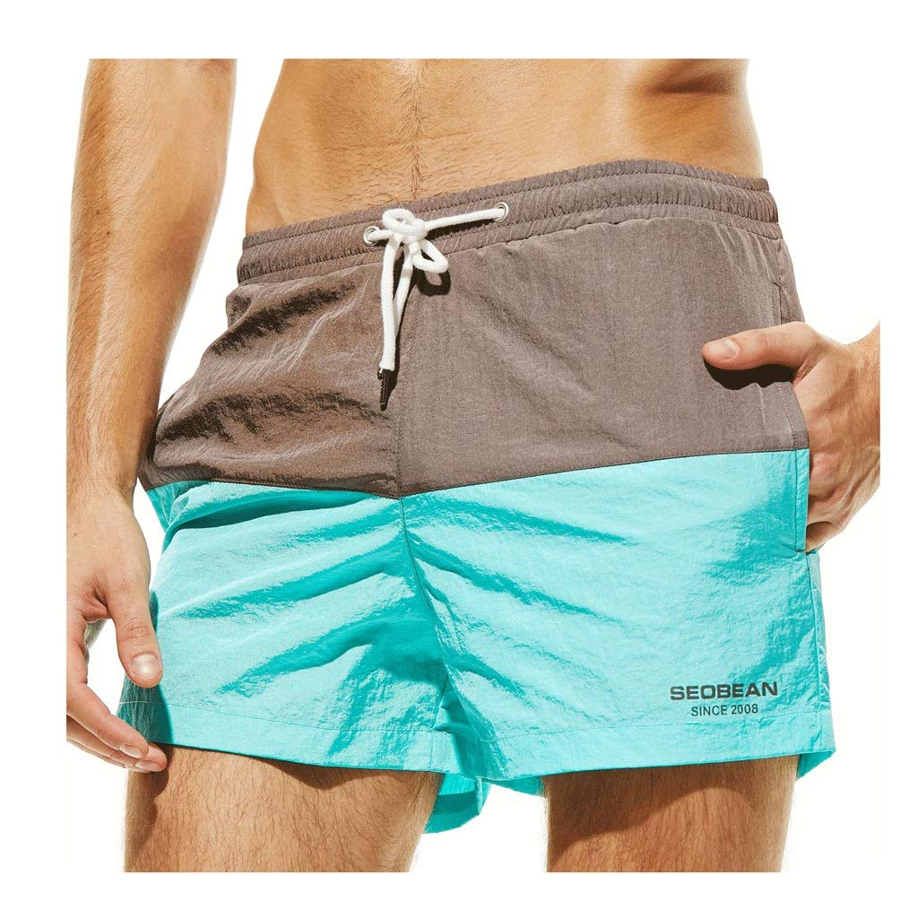 IJUGIU Men's Beach Shorts Men's Shorts Surfing Breathable Waterproof Sports Leisure Home (Color : 2, Size : S)