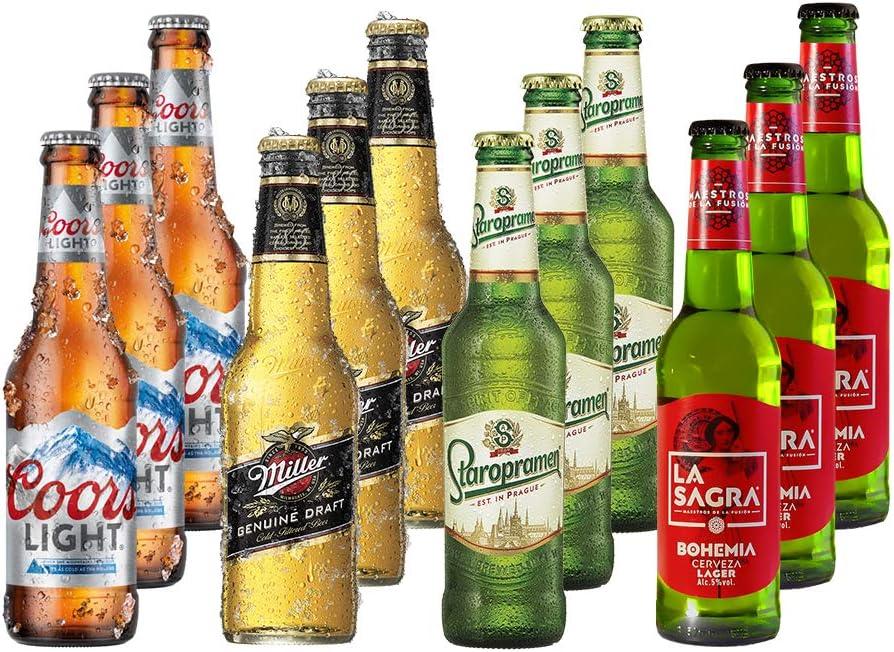 Lagers del Mundo Pack Degustación de Cerveza - 12 botellas x 330 ml - Total: 3960 ml: Amazon.es: Alimentación y bebidas