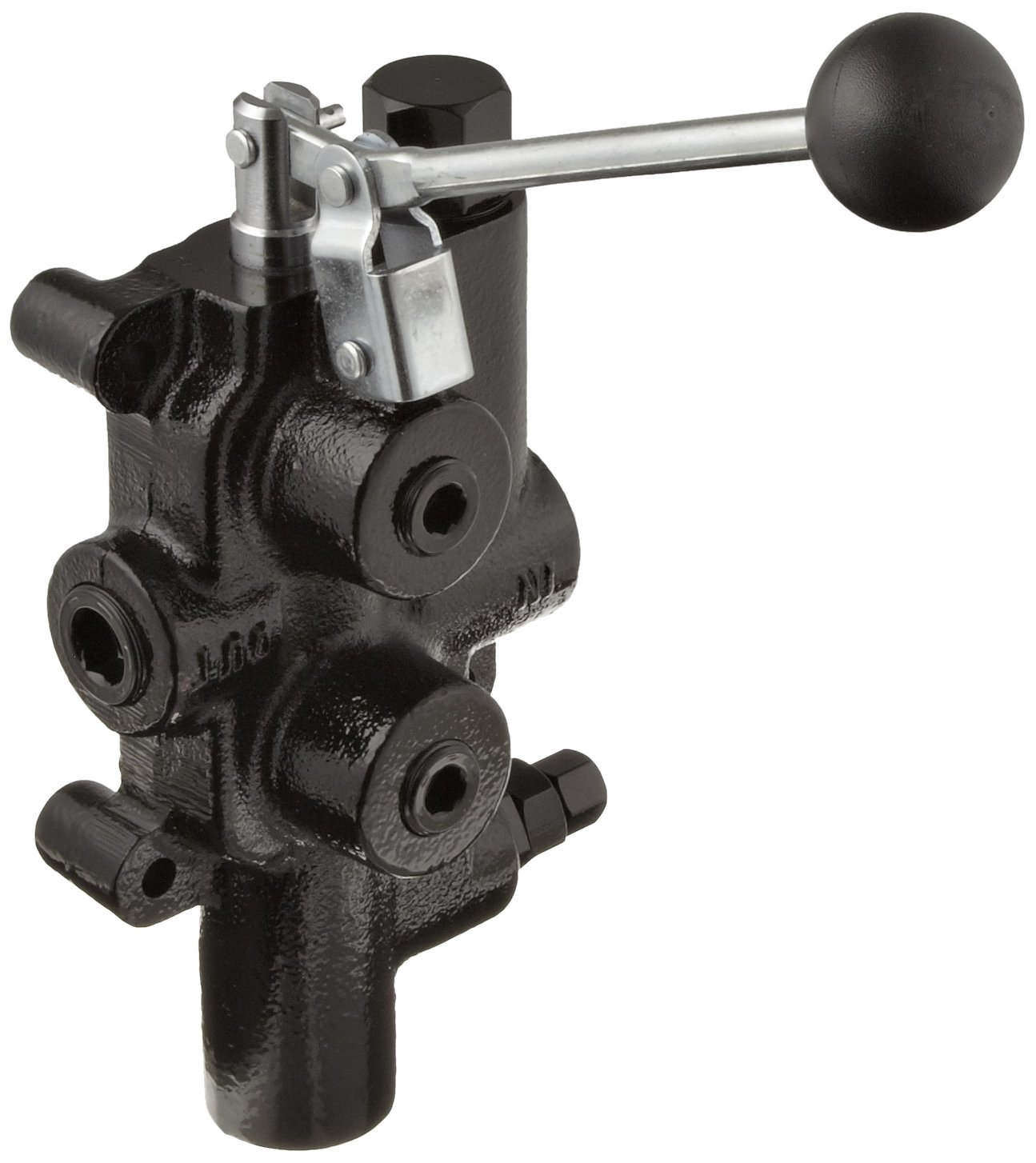 Prince LS-3000-1 Directional Control Valve, Logsplitter, 4 Ways, 3 Positions, Spring Center to Neutral, Cast Iron, 2750 psi, Lever Handle, 25 gpm, In/Out: 3/4'' NPTF, Work: 1/2'' NPTF by Prince Manufacturing
