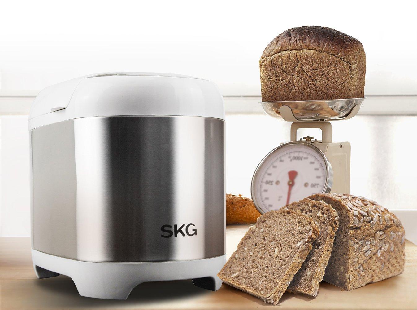 SKG Máquina de pan programable automática de 2 libras: Amazon.es ...