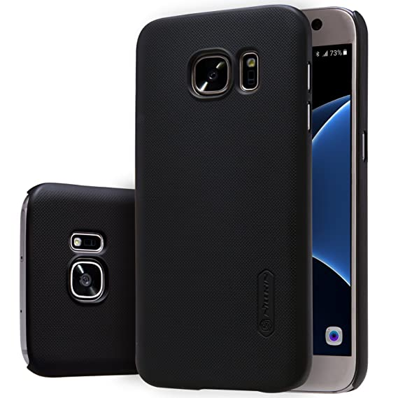 on sale f1f54 069ce Nillkin Case of Samsung Galaxy S7 S 7 Super Frosted Hard Back Cover PC  Black Color