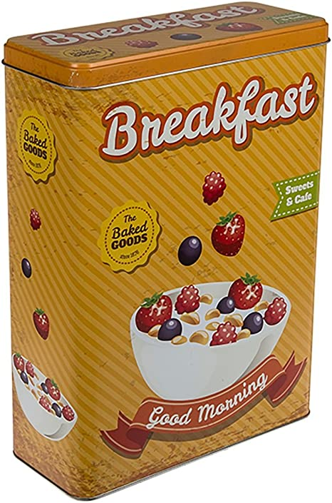 Aprox 19 x 8 x 26,5 cm Breakfast ootb Caja Rectangular de Metal Naranja