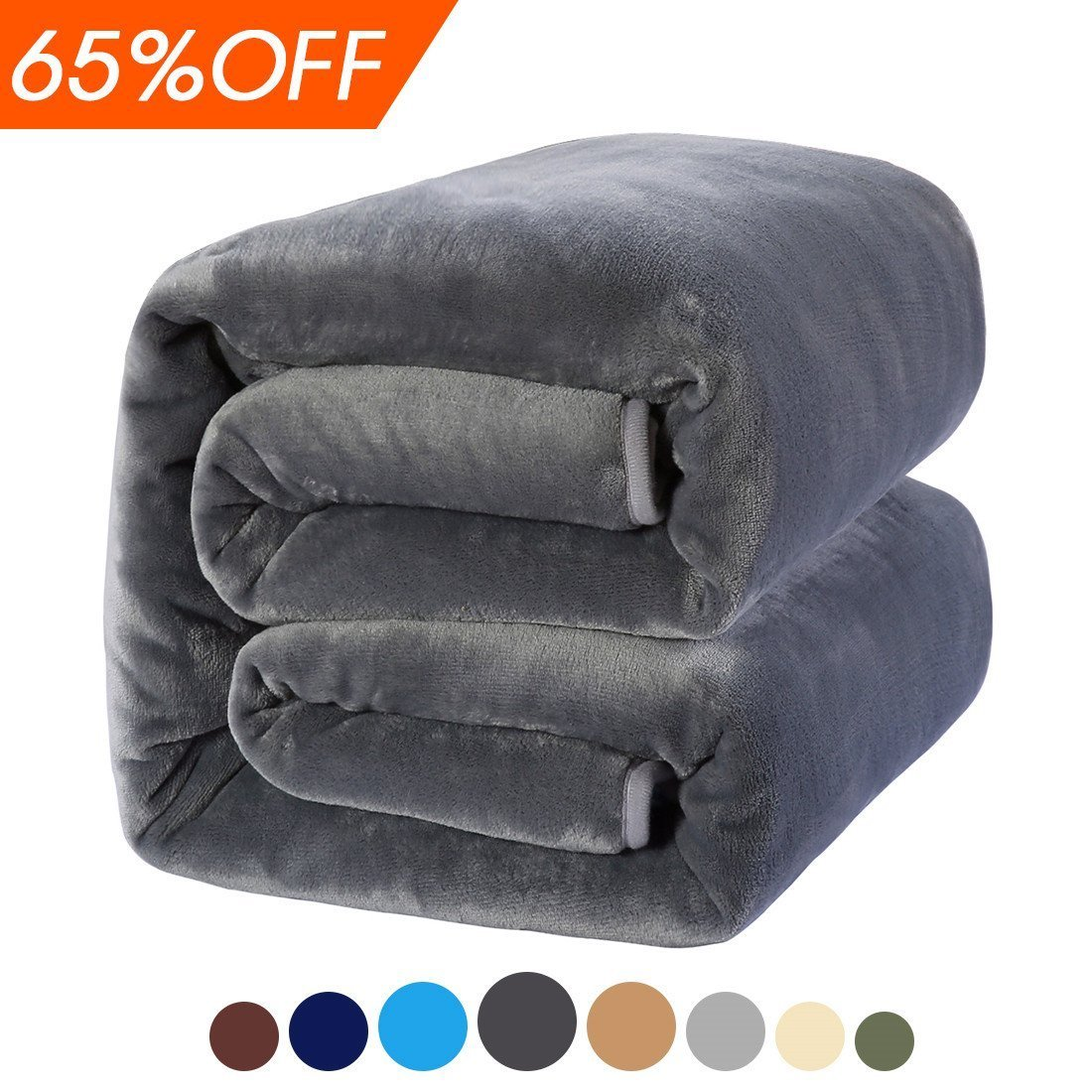 MEROUS Soft King Fleece Bed Blanket, Dark Grey by MEROUS
