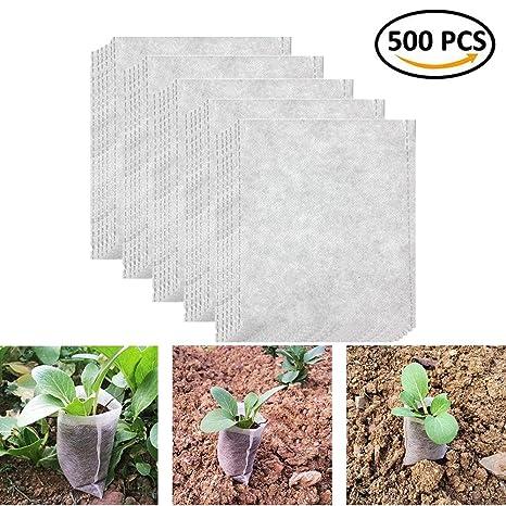 BraveWind Bolsas de cultivo biodegradables no tejidas para ...