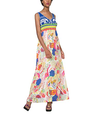 Desigual Womens Quard Floral Maxi Dress 40 UK 12