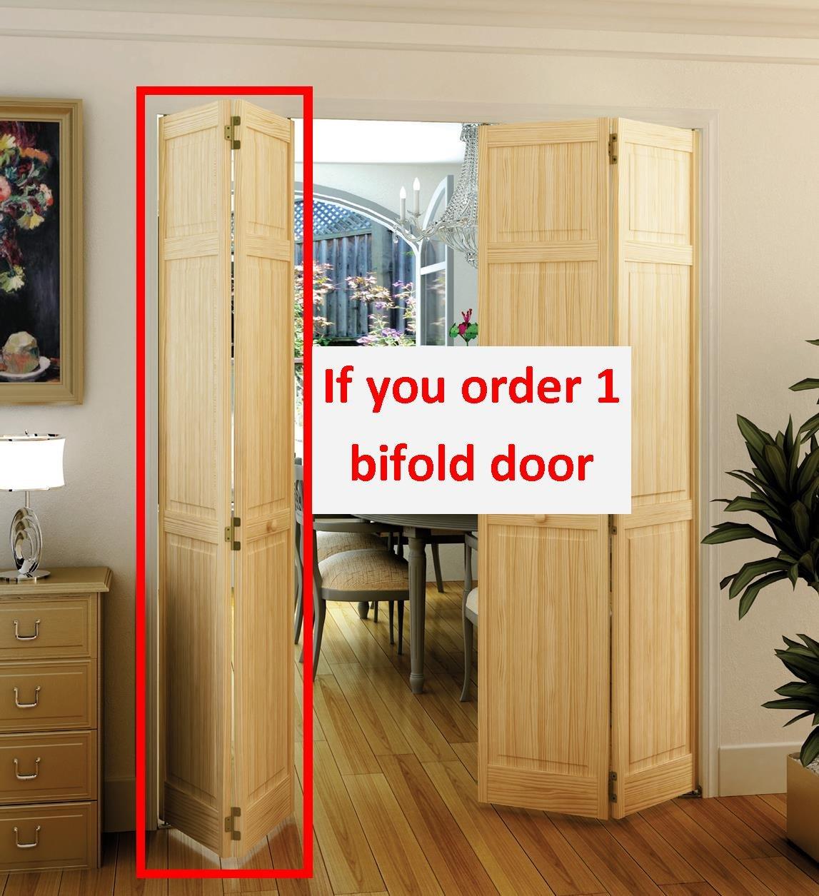 Bi Fold Closet Door 80 X 24 Inch Clear 6 Panel Solid Core