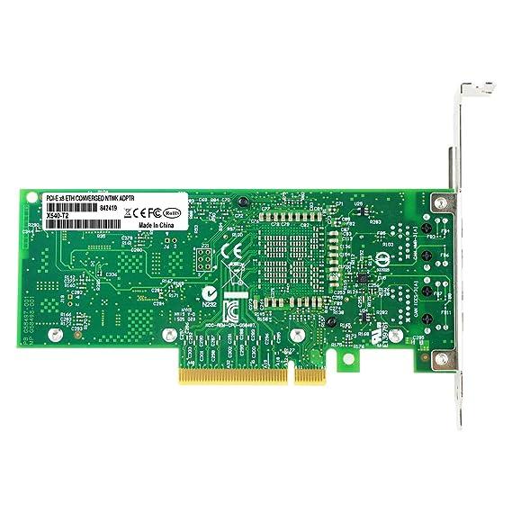 Semoic Tarjeta de Red Nic PCI-E de 10 GB, para X540-T2 con Chip ...