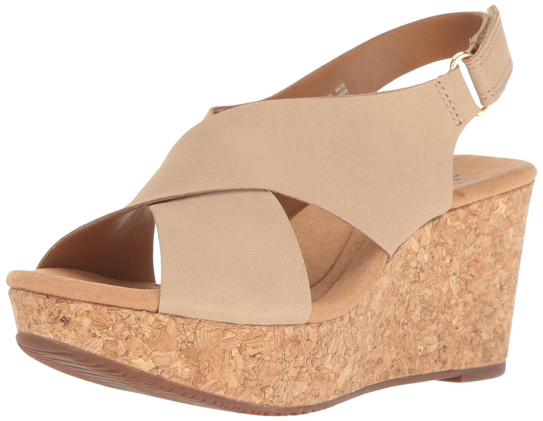 CLARKS Women's Annadel Eirwyn Wedge Sandal B01FH9D14U 11 W US|Sand