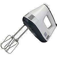 Black+Decker M350 300-Watt Hand Mixer (White/Grey)