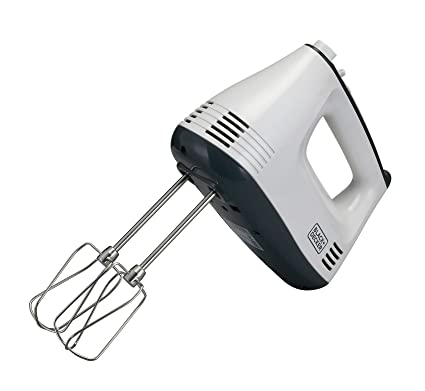 Black & Decker M350 300-Watt Hand Mixer (White/Grey) Hand Mixers at amazon