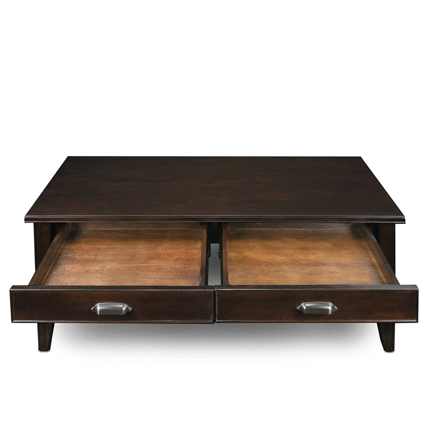 amazon com leick laurent 2 drawer coffee table kitchen dining