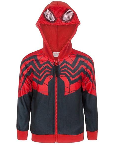 Amazon.com: Disfraz de Spider-Man Boy 's cierre de ...