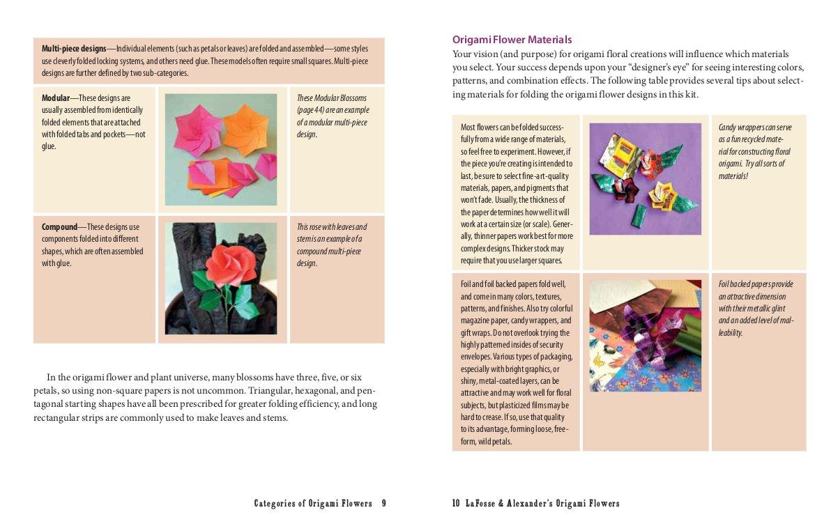 Amazon Lafosse Alexanders Origami Flowers Kit Lifelike