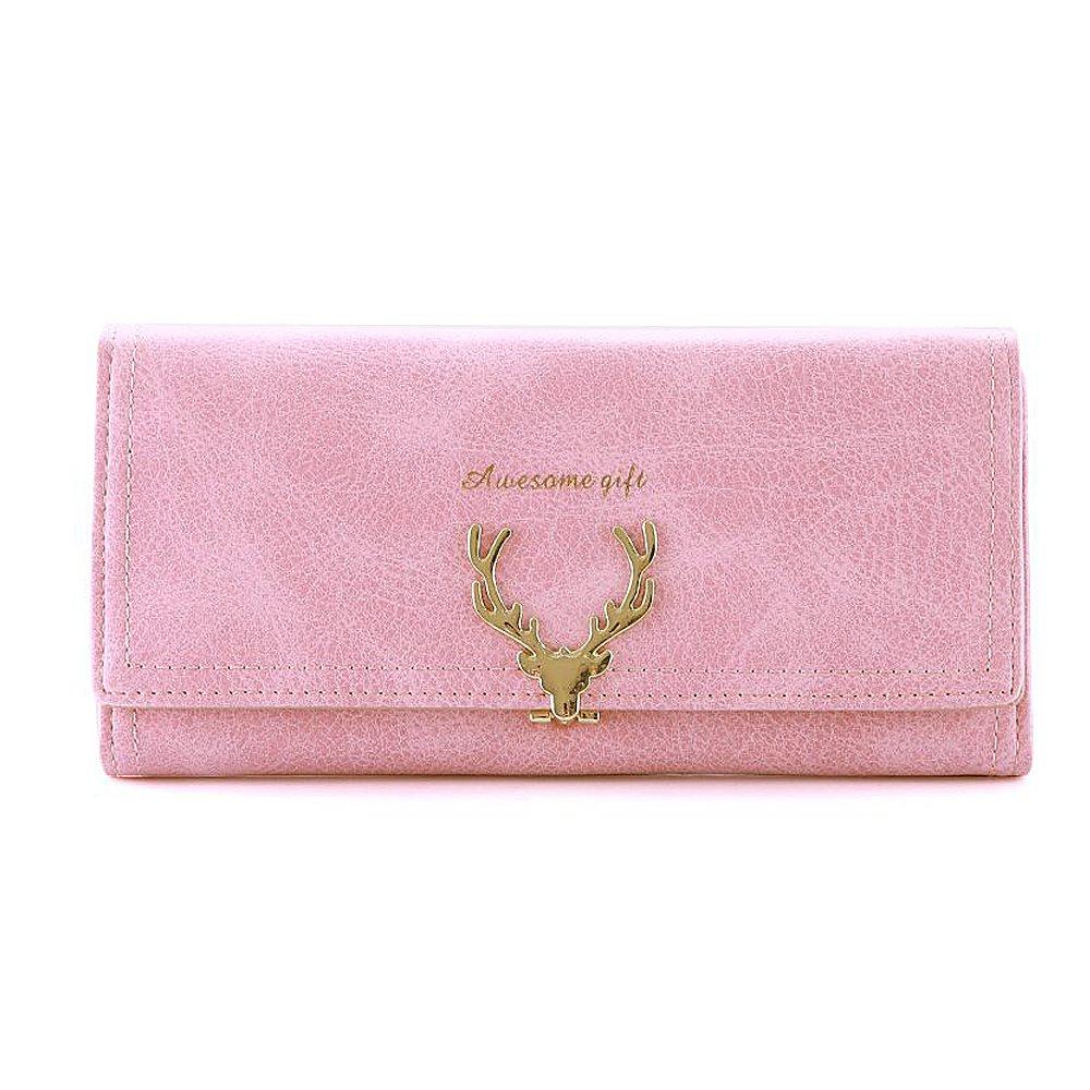 Woolala Elegant Womens Deer-Type Lock Wallet Nubuck Multi Card Slots Long Purse, Black: Amazon.es: Equipaje