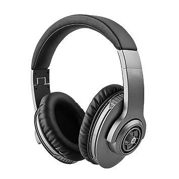 Auriculares inalámbricos Bluetooth BT4.1 Auriculares plegables ajustables estéreo en el oído con micrófono y control de volumen 1300mAh 200H Tiempo de ...