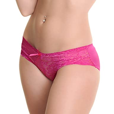 4893fb76d58dd Angelina Matching Demi-Cup Bra and Panty Set with Lace Accent (6 ...