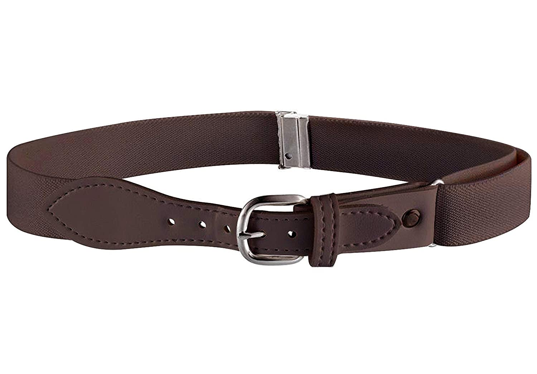 KBLT100-Light Pink Buyless Fashion Kids Girls Elastic Adjustable Stretch Belt with Leather Closure