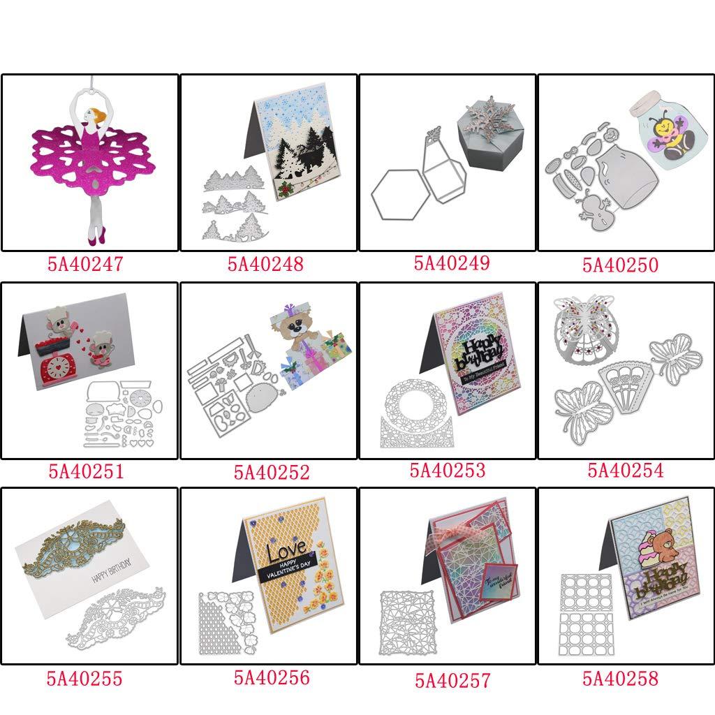 Metall Stanzform Schablone Scrapbooking DIY Album Stempel Papier Karte Prägung.