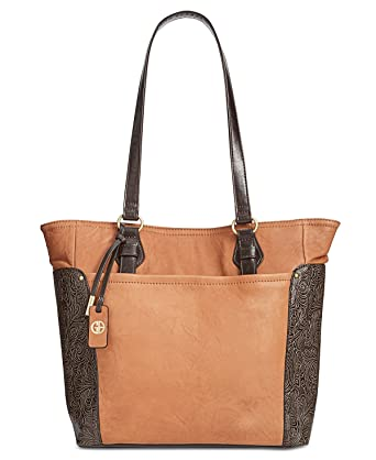Image Unavailable. Image not available for. Color  Giani Bernini Sandalwood Embossed  Tote a409646c46