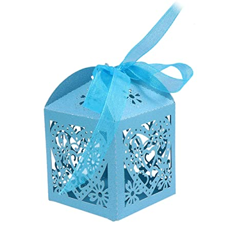 STOBOK Cajas de Caramelos de Papel Hueca con Patron de Corazon para Bombones Dulce Chocolate Cajas