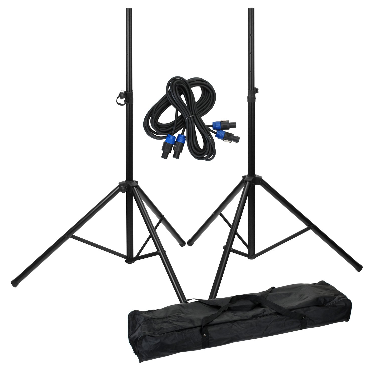 Pronomic 27029 - Set de dos soportes, funda transporte y cables 00027029
