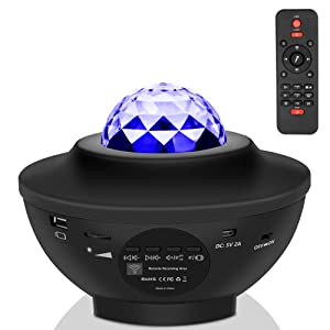 Star Night Light for Kids, Music Starry Projector with 21 Lighting Modes, Bluetooth Music Player, Remote, Timer, USB Powered Sound-Activated Star Sea Projector for Gifts Decor Party Birthday Wedding