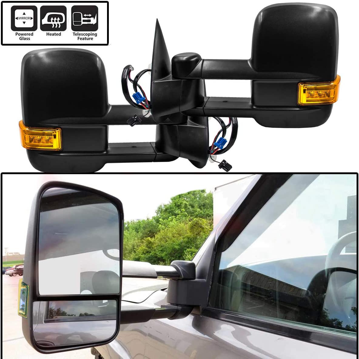 FOR 03-07 CHEVY SILVERADO//GMC SIERRA OE RIGHT POWERED+HEATED SIDE VIEW MIRROR