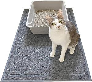 Evelots Cat Litter/Pet Food Mat-3-FEET-LONG-No Litter Spread-Non Skid-New Model