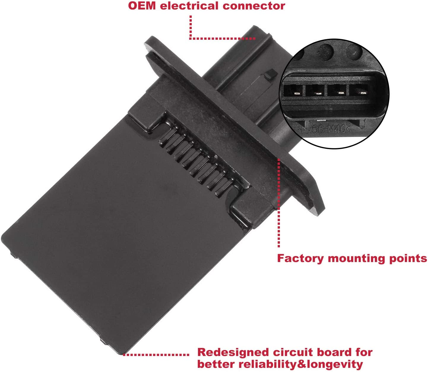 Front Blower Motor Regulator Resistor For 05-07 Ford Mustang RU1133 #973-444